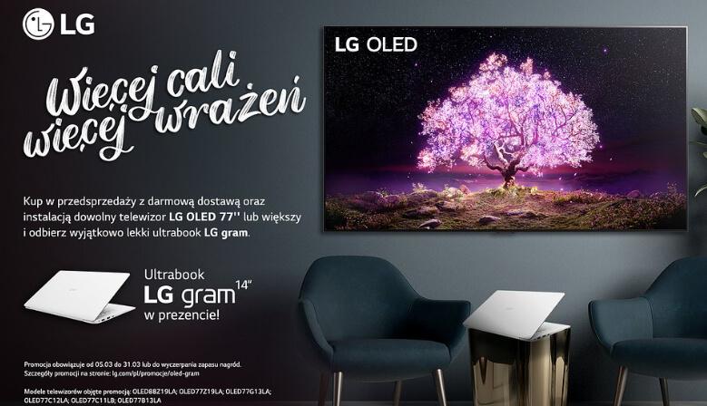 "Promocja LG OLED + LG Gram 14"""